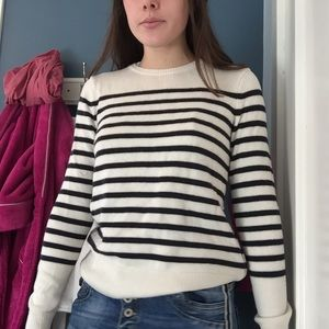 J. Crew Navy/White Striped Sweater